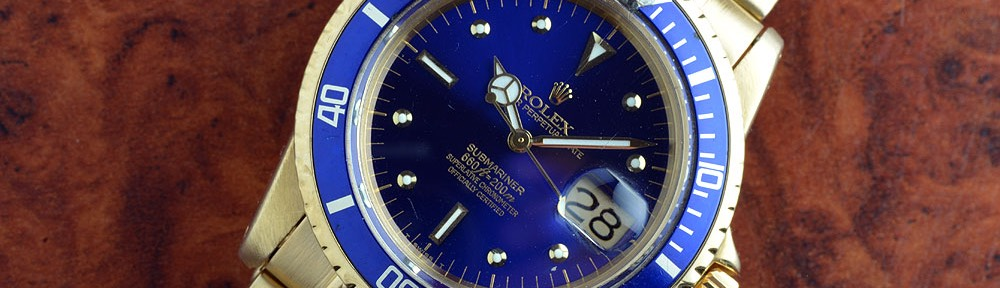 Rolex Submariner 1680/8 Gold Blue Dial. -SOLD